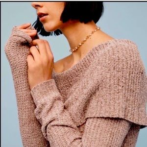 Anthropologie off the shoulder sweater